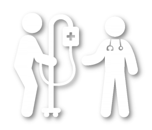Hospital discharge icon